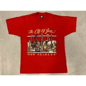 1987 New Orleans 'The City of Jazz' Graphic Shirt